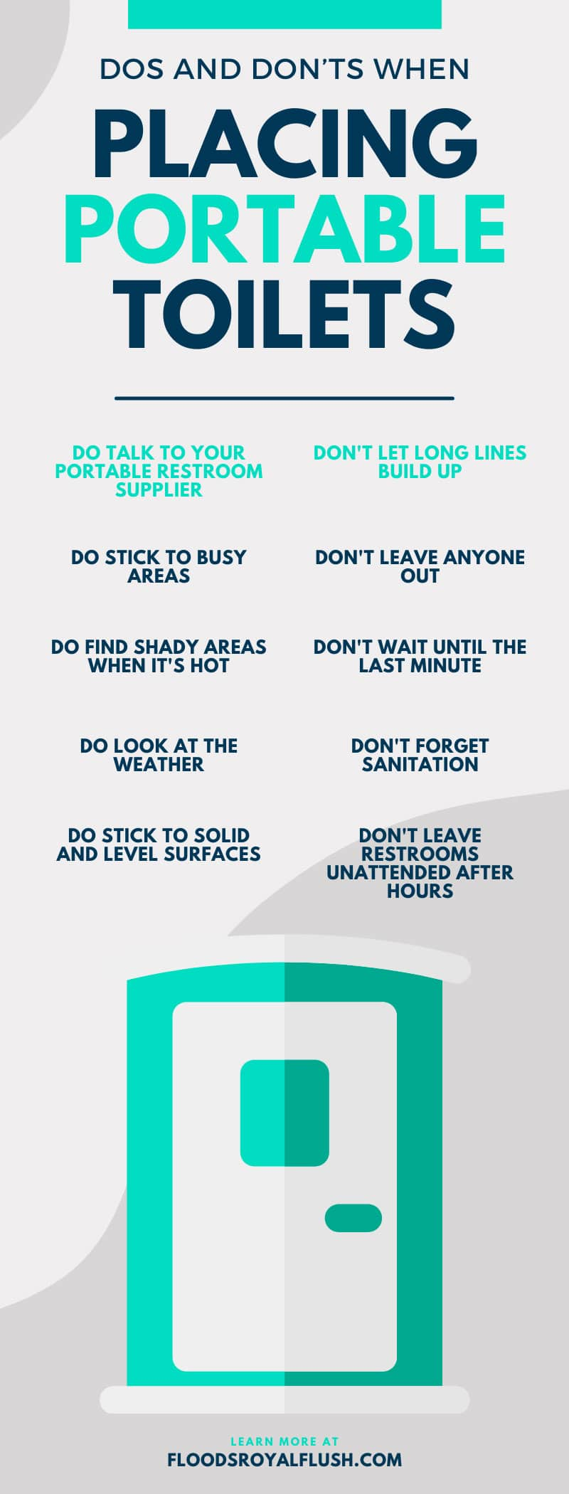 Dos and Don'ts When Placing Portable Toilets