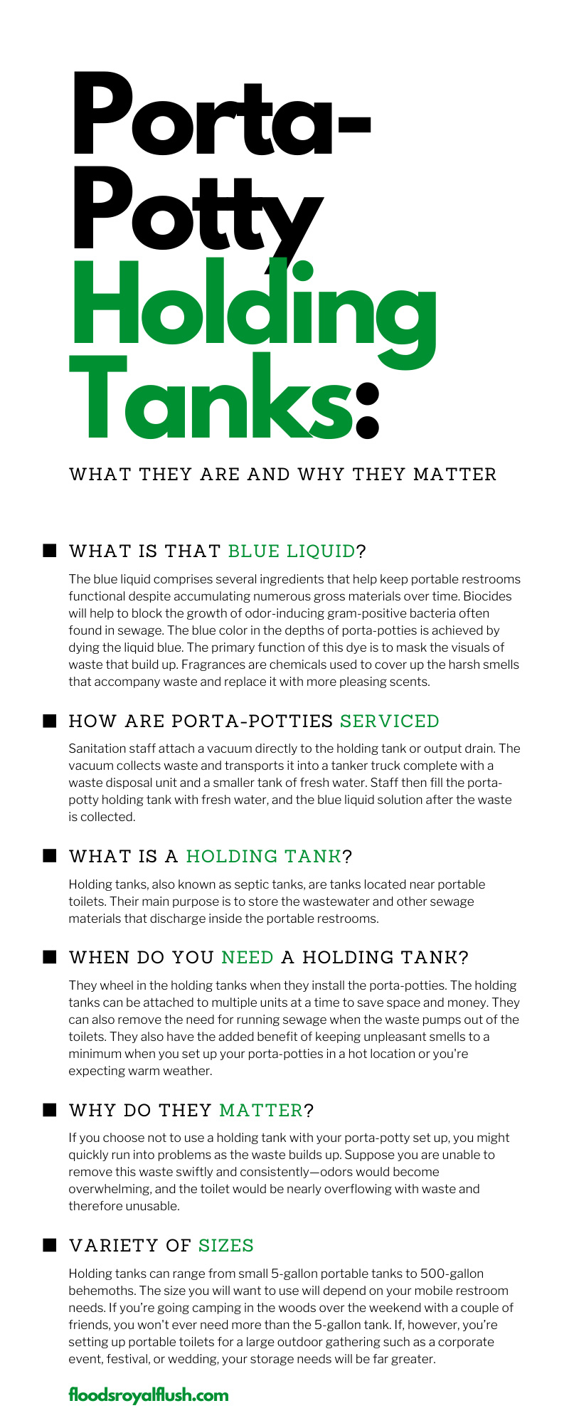 Porta-Potty Holding Tanks: What They Are and Why They Matter
