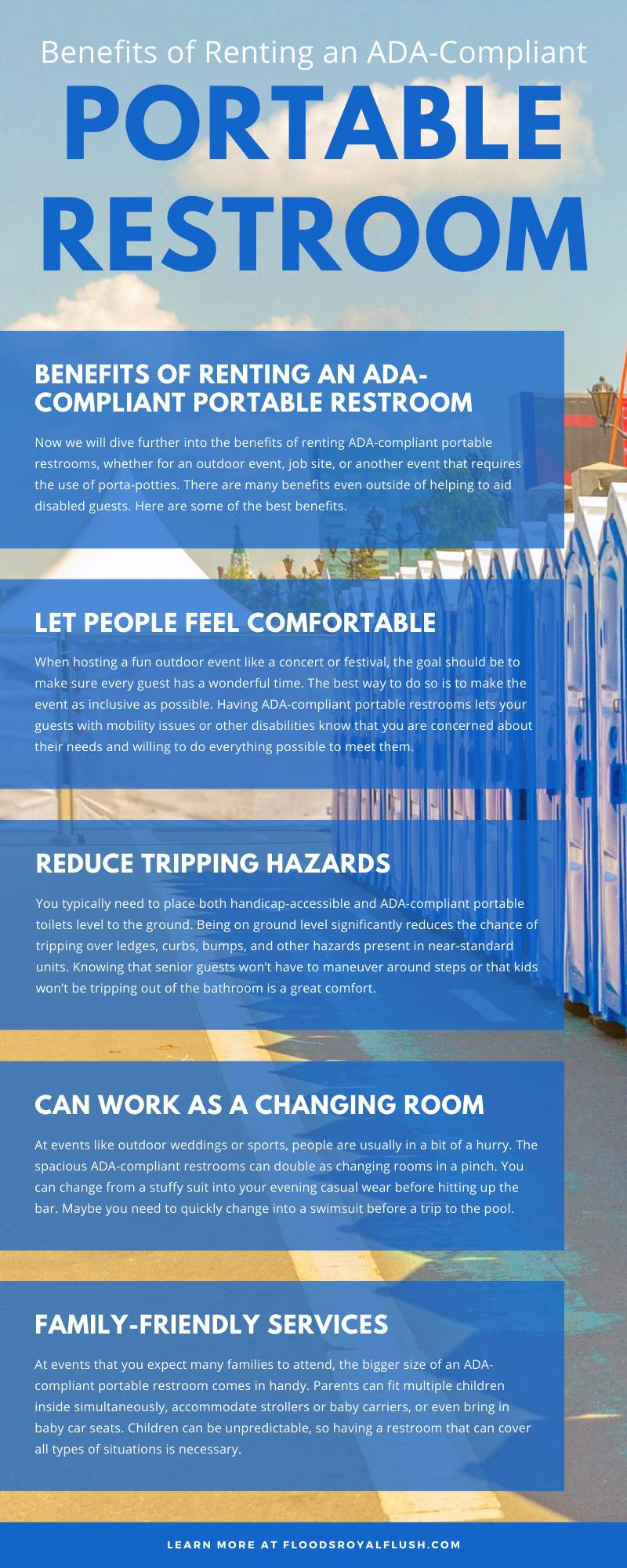 Benefits of Renting an ADA-Compliant Portable Restroom